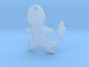 Charmander Pendant in Smooth Fine Detail Plastic