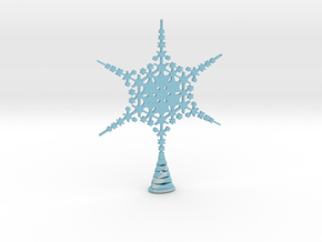 Large Sparkle Snow Star - Tree Top Fractal -MP5-L in Full Color Sandstone