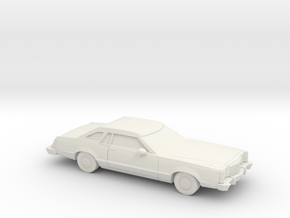1/87 1977-79 Ford LTD II Brougham Coupe in White Natural Versatile Plastic