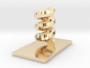 Helix in 14k Gold Plated Brass