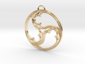 Triskele with rims in 14K Gold