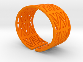 Patterned Cuff Detail 1 in Orange Processed Versatile Plastic
