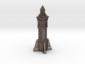 TT Gauge - Victorian Clock Tower in Polished Bronzed Silver Steel