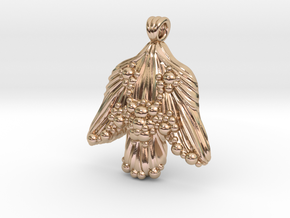 Abstract Angel in 14k Rose Gold Plated Brass