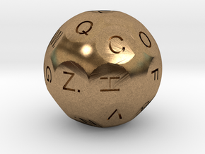 D26 Alphabetical Sphere Dice for Impact! Miniature in Natural Brass