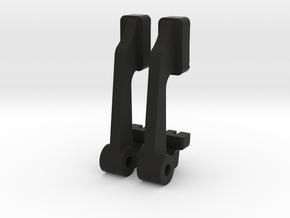 Wirraway Gun Button in Black Natural Versatile Plastic