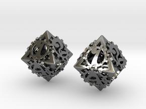 {pendants} Dice earrings in Polished Silver