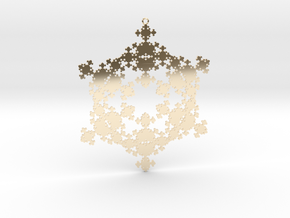 Snowflake Fractal 1 Customizable in 14K Yellow Gold