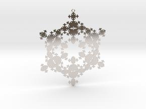 Snowflake Fractal 1 Customizable in Platinum
