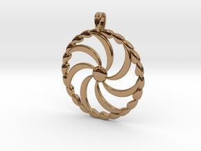 Borjgali Sun Tree Jewelry symbol Pendant. in Polished Brass