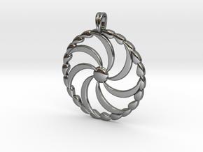 Borjgali Sun Tree Jewelry symbol Pendant. in Fine Detail Polished Silver