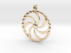 Borjgali Sun Tree Jewelry symbol Pendant. in 14K Yellow Gold