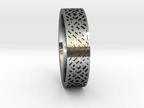 Cross 10 sz in Fine Detail Polished Silver