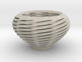 Spiral Basket in Natural Sandstone