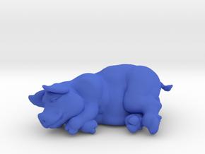 "SLEEPING PIG 2 "" tall in Blue Processed Versatile Plastic"