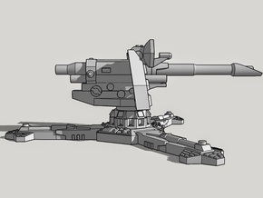 28mm Sci-Fi Antitank Gun (with 6 Barrels!) in White Natural Versatile Plastic