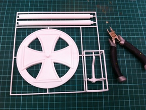 BF109 Stand, 1/56 scale, 28mm wargames in White Natural Versatile Plastic