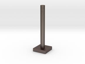 Mini Festivus Pole in Polished Bronzed Silver Steel