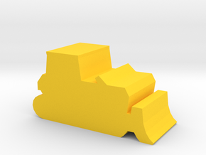 Game Piece, Bulldozer in Yellow Processed Versatile Plastic