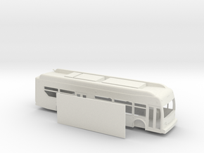 HO scale new flyer xcelsior hybrid bus in White Strong & Flexible