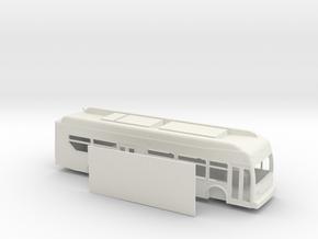 HO scale new flyer xcelsior hybrid bus in White Natural Versatile Plastic