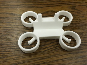 Drone Business Card Holder in White Processed Versatile Plastic