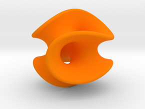 Chen-Gackstatter Surface in Orange Strong & Flexible Polished