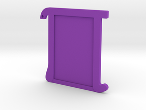 Pi Picture Frame/Keychain (wallet size) in Purple Processed Versatile Plastic