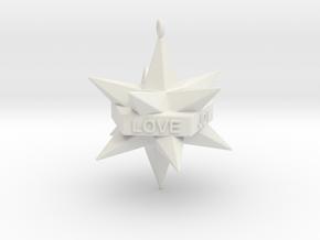 Star Ornament in White Natural Versatile Plastic