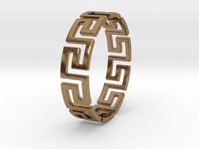 Mäander Ring Size 11.5 in Natural Brass