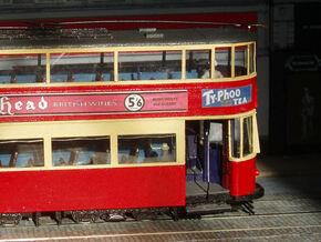 1:43 L.T. Tram No 1-Part 1 in White Natural Versatile Plastic