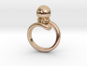 Fine Ring 22 - Italian Size 22 in 14k Rose Gold Plated Brass