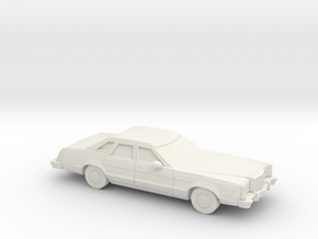 1/87 1977-79 Mercury Cougar Sedan in White Natural Versatile Plastic