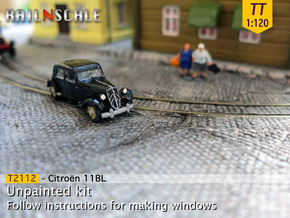 Citroën 11BL (TT 1:120) in Smooth Fine Detail Plastic