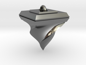 Twisted Pyramid in Fine Detail Polished Silver