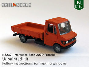 Mercedes-Benz 207D Pritsche (N 1:160) in Smooth Fine Detail Plastic
