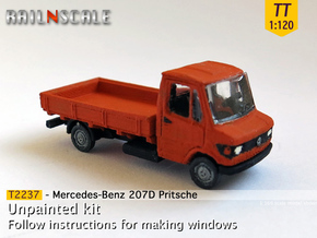 Mercedes-Benz 207D Pritsche (TT 1:120) in Smooth Fine Detail Plastic