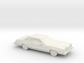 1/87 1977-79 Mercury Cougar XR 7 in White Natural Versatile Plastic