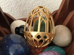 Gothic Egg Shell 1 in Matte Gold Steel