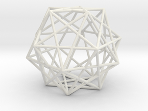 Expanded Dodecahedron in White Natural Versatile Plastic