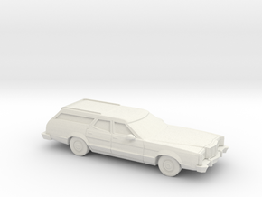 1/87 1977-79  Mercury Cougar Station Wagon in White Natural Versatile Plastic