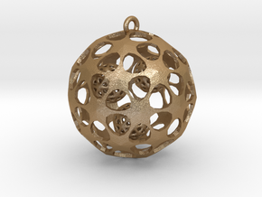 Hadron Ball - 5cm in Matte Gold Steel