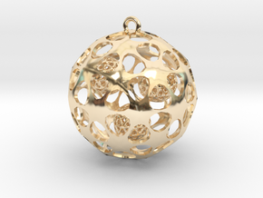 Hadron Ball - 4cm in 14K Yellow Gold