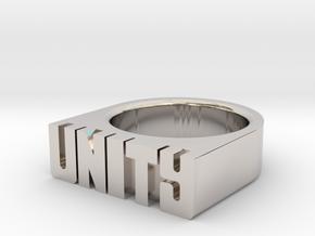 13.3mm Replica Rick James 'Unity' Ring in Platinum