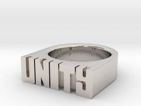 13.9mm Replica Rick James 'Unity' Ring in Platinum