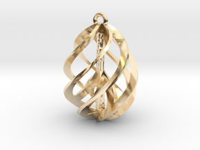 Peace Ascendant - 20mm in 14k Gold Plated Brass