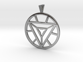 Iron Man Arc Reactor Pendant in Polished Silver