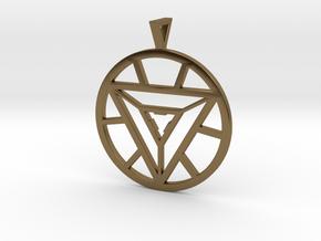 Iron Man Arc Reactor Pendant in Polished Bronze