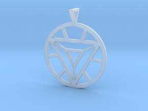 Iron Man Arc Reactor Pendant in Smooth Fine Detail Plastic