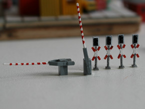 Bahnübergang Spur N in Smooth Fine Detail Plastic